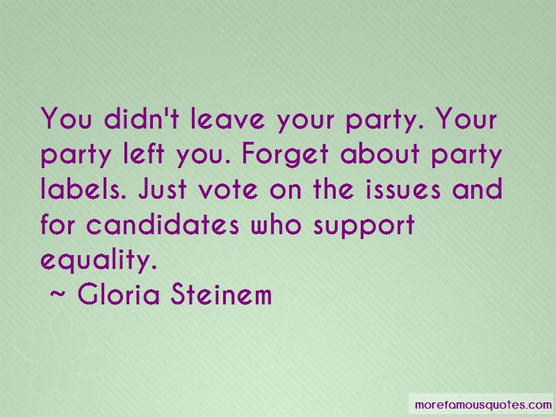 About Party Quotes