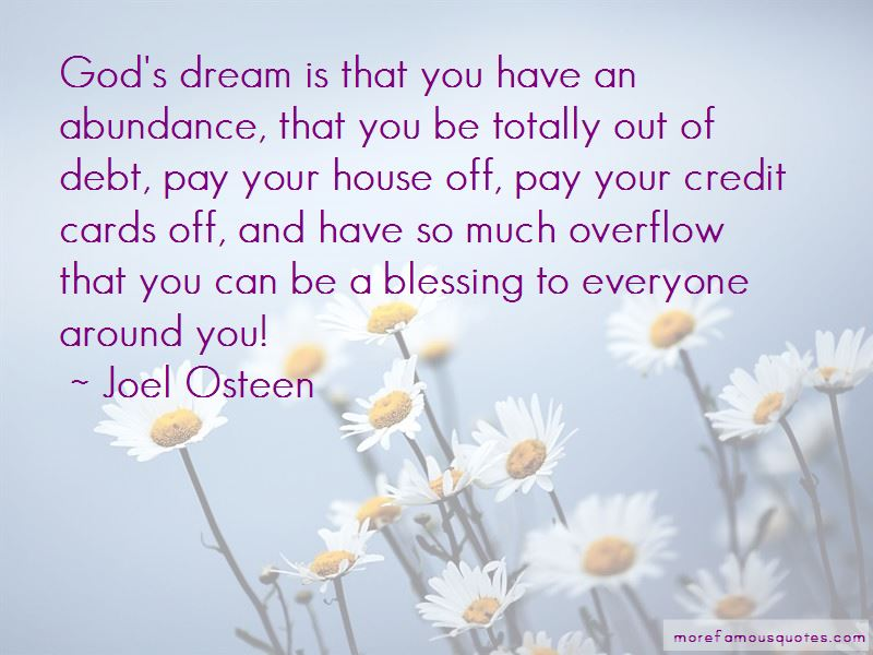 Blessing Overflow Quotes