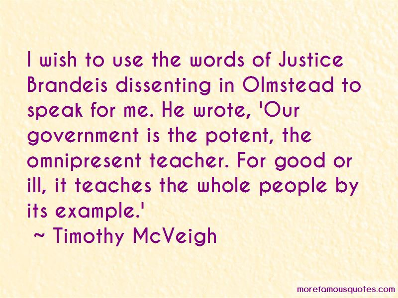 Timothy mcveigh famous quotes