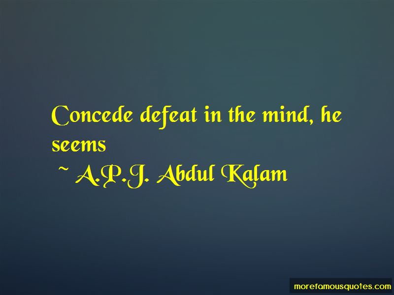 Concede Defeat Quotes