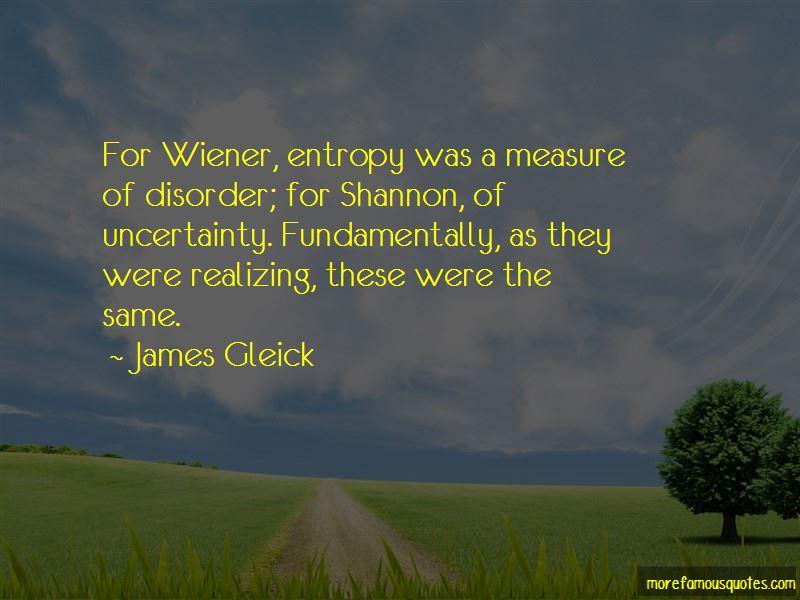 Entropy Disorder Quotes