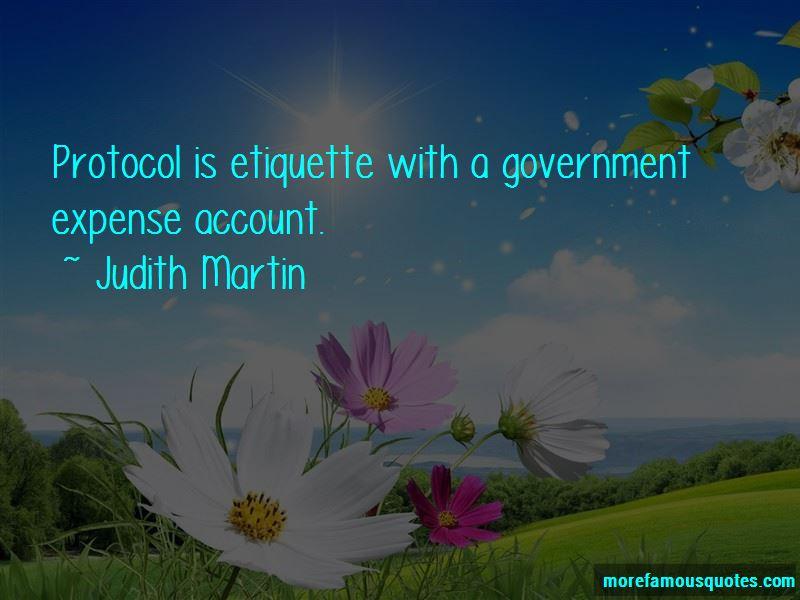 Etiquette And Protocol Quotes