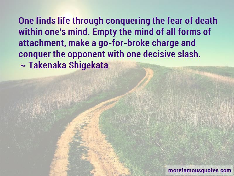 Fear Conquering Quotes