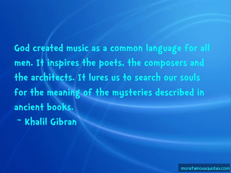 God Created Music Quotes