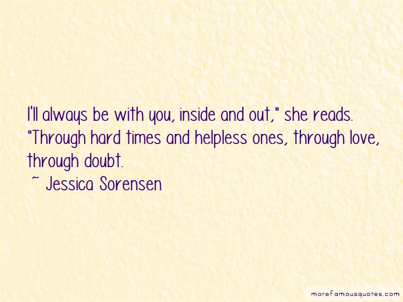 Hard Times Through Love Quotes