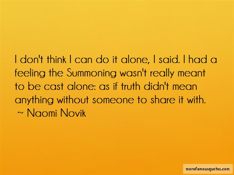 I Can Do It Alone Quotes