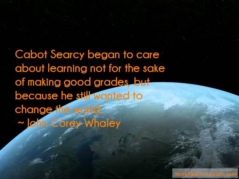 making good grades