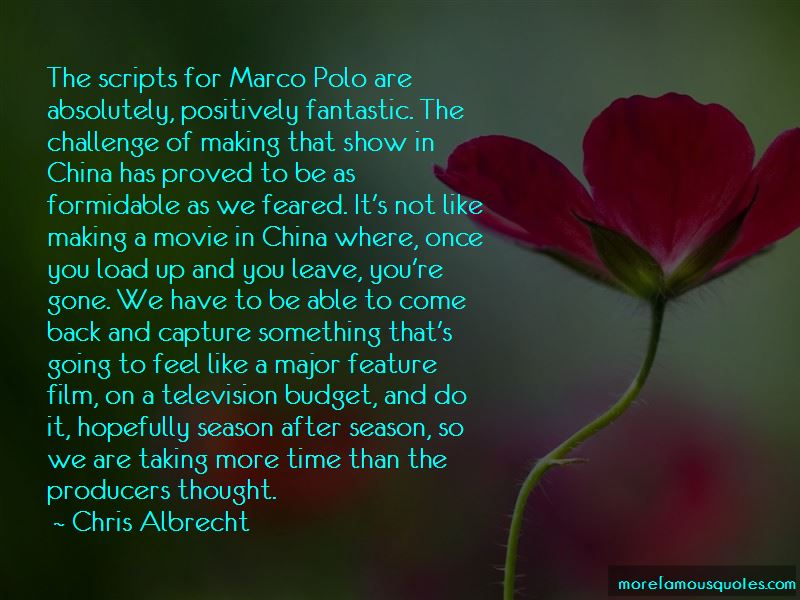 Marco Polo Movie Quotes