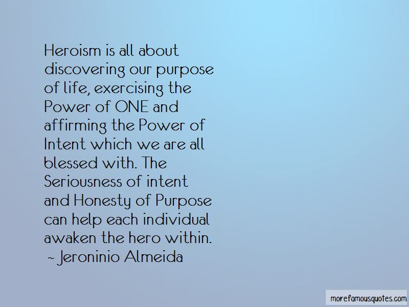 Power Of Intent Quotes
