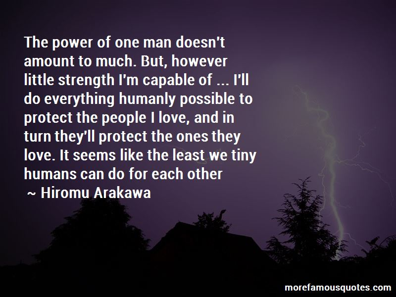 Power Of One Man Quotes