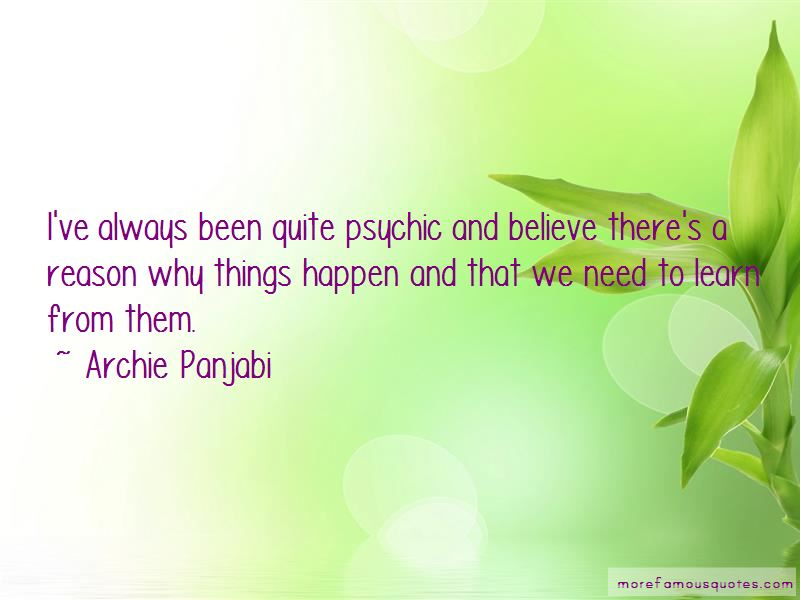 Reason Why Things Happen Quotes