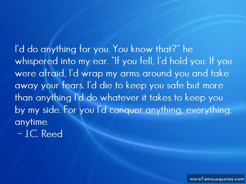 Safe In Your Arms Quotes