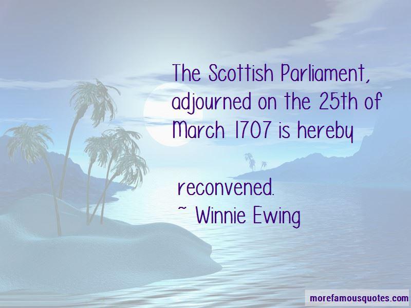 Scottish Parliament Quotes