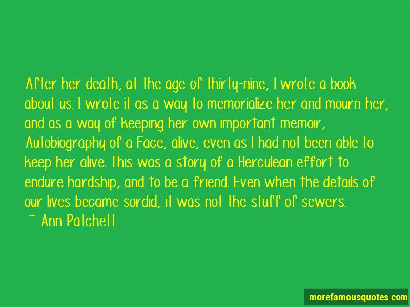 Autobiography Of A Face Quotes