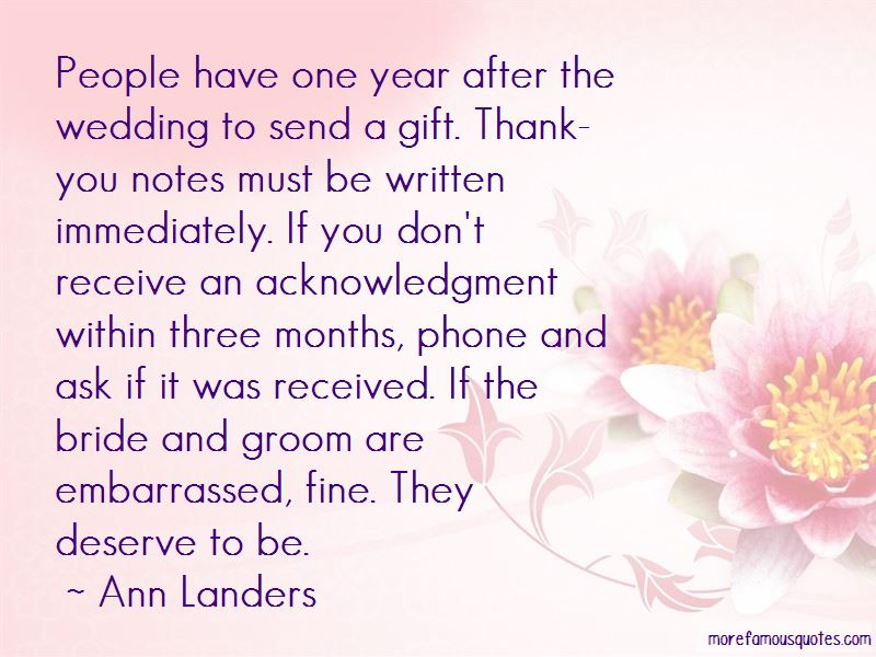 Bride And Groom Thank You Quotes