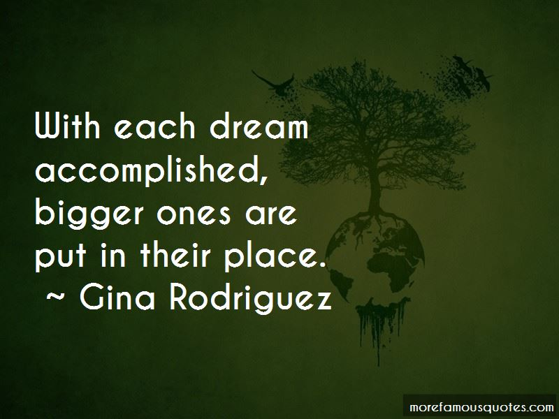 Dream Accomplished Quotes