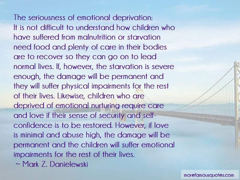 Emotional Deprivation Quotes Pictures 2