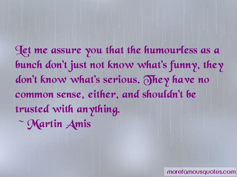 Funny No Common Sense Quotes