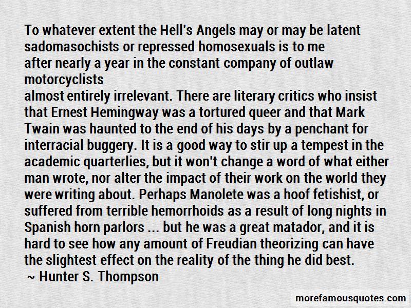 Hemingway Matador Quotes