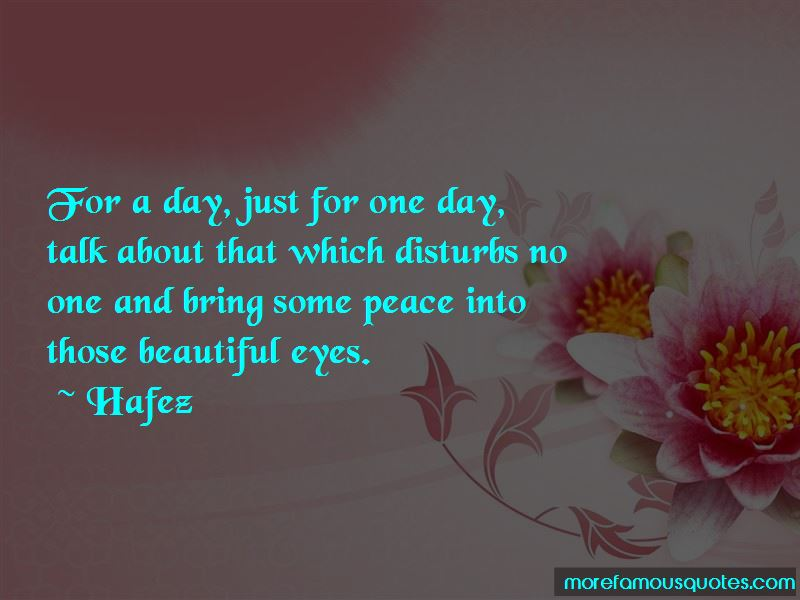 Just For One Day Quotes