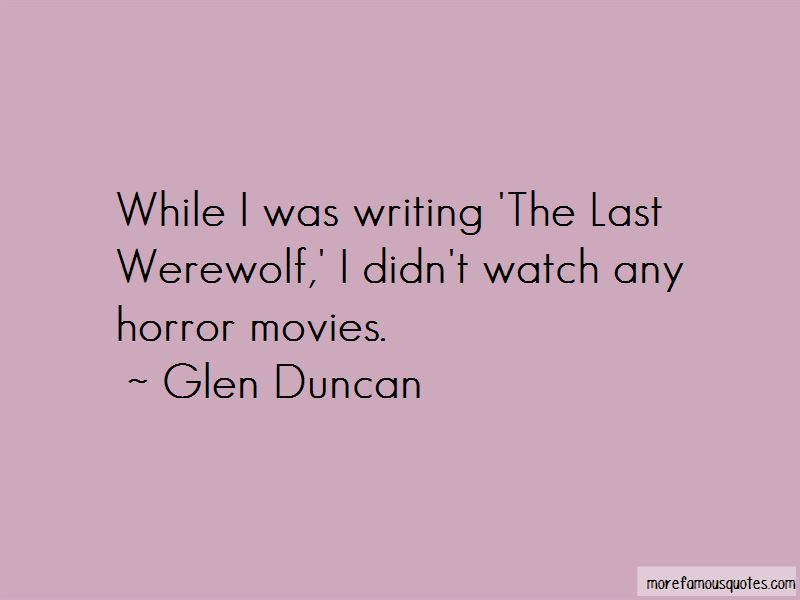 Last Werewolf Quotes