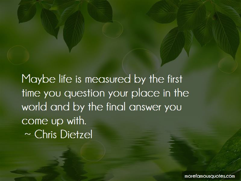 Life Is Measured By Quotes