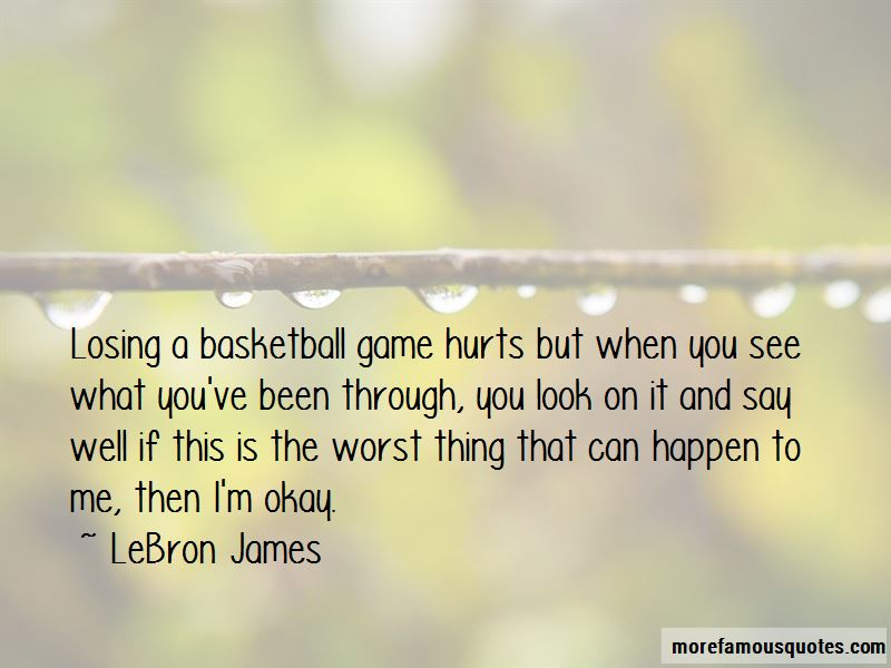 Losing Game Basketball Quotes