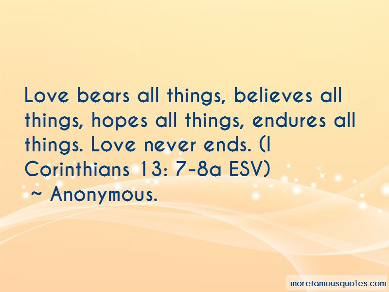 Love Bears All Things Quotes Pictures 3