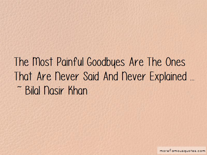 Most Painful Goodbyes Quotes