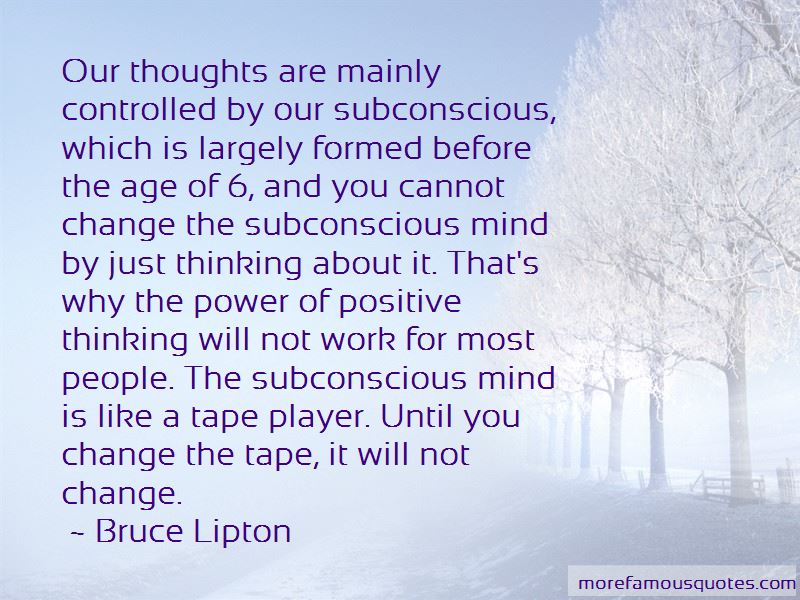 Power Of Subconscious Mind Quotes