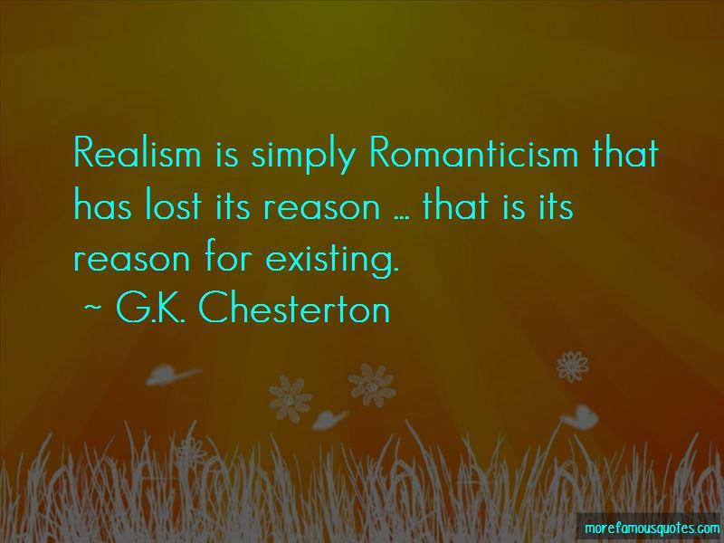 Realism Vs Romanticism Quotes