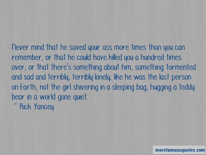 Sad Teddy Bear Quotes