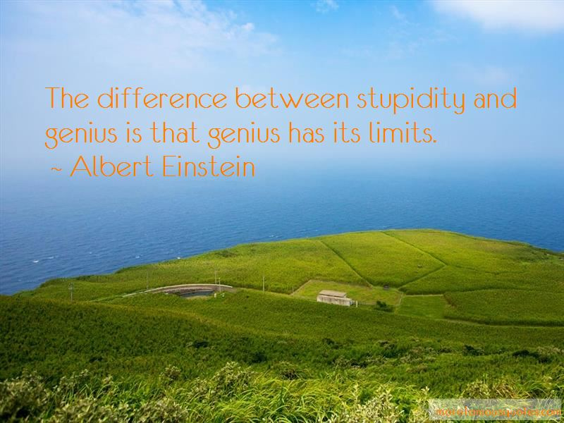 The Difference Between Stupidity And Genius Quotes