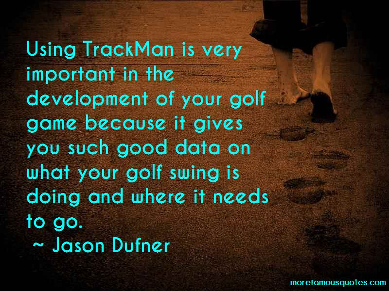 Trackman Golf Quotes