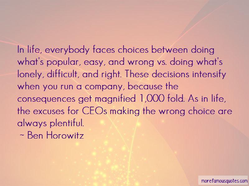 Wrong Choice Quotes