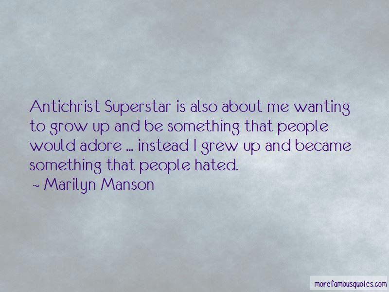 Antichrist Superstar Quotes