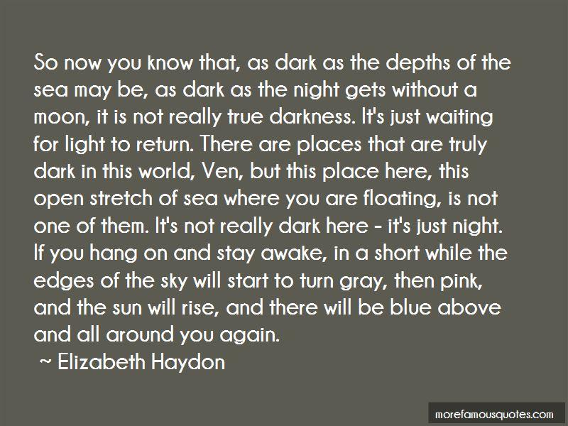 Dark Blue World Quotes