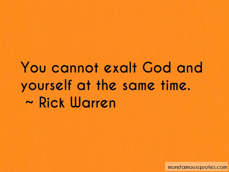 Exalt God Quotes