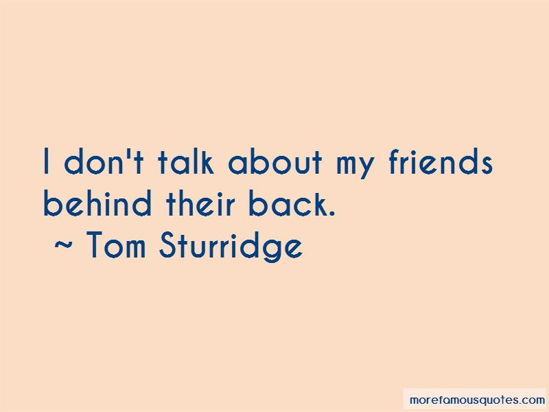 Friends Talk Behind My Back Quotes
