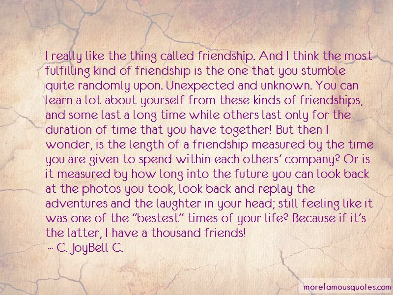 Fulfilling Friendship Quotes