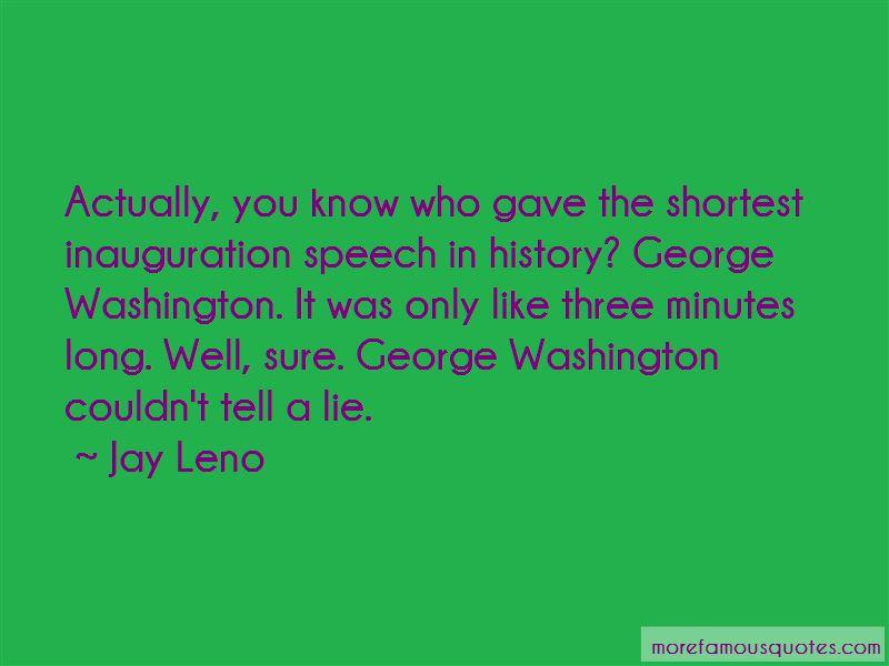 George Washington Inauguration Speech Quotes