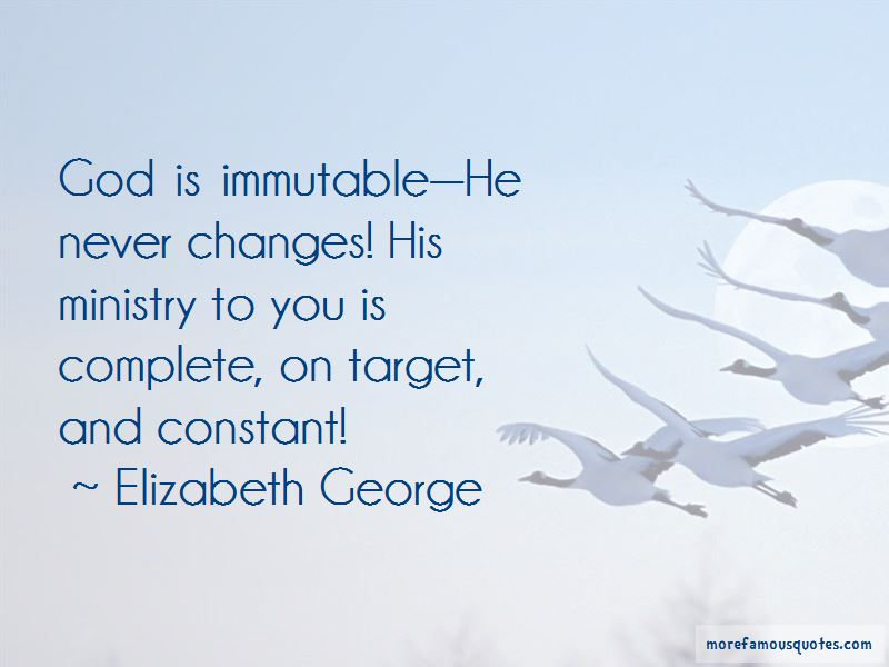 God Is Immutable Quotes