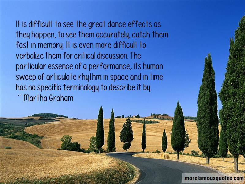 Great Dance Performance Quotes