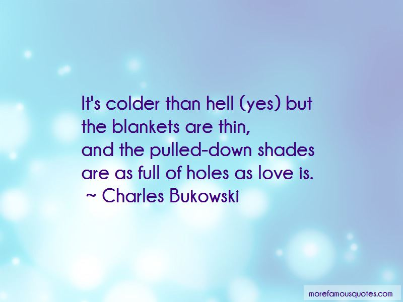 It's Colder Than Quotes
