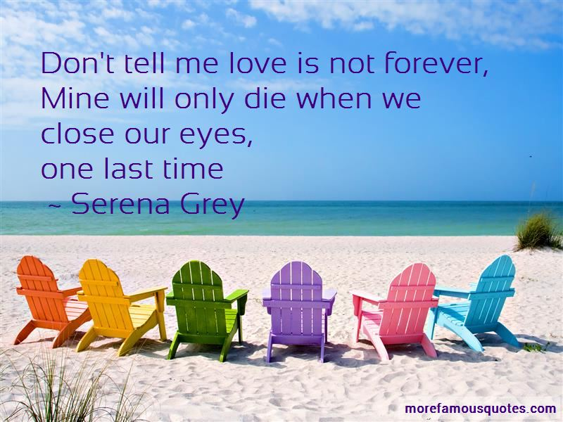 Love Is Not Forever Quotes