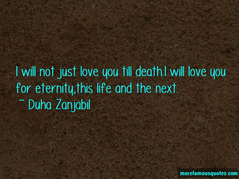 Love You Till Eternity Quotes