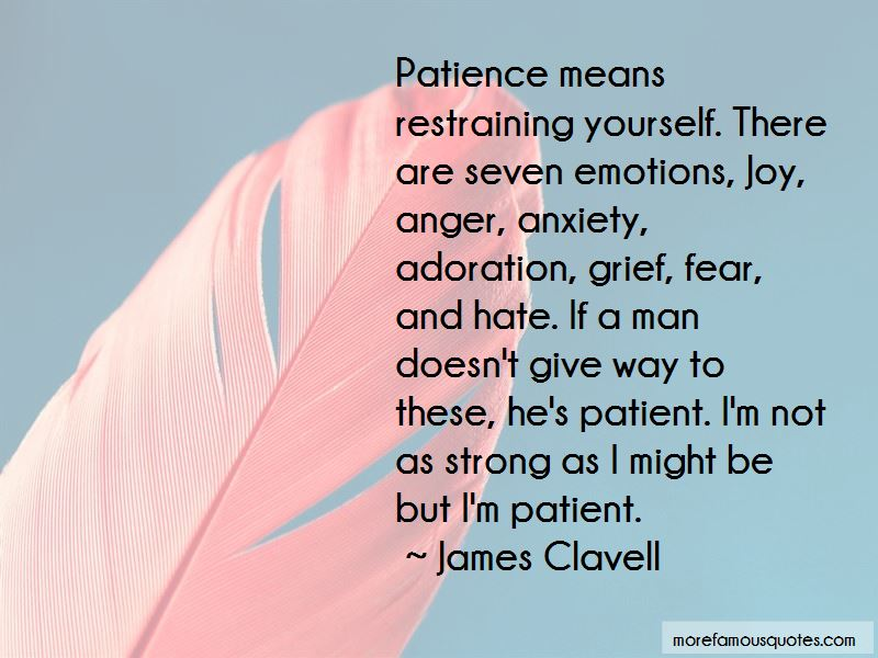 Restraining Anger Quotes