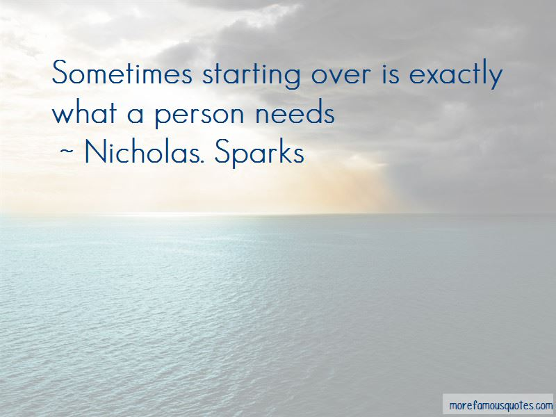 Sometimes Starting Over Quotes Pictures 2