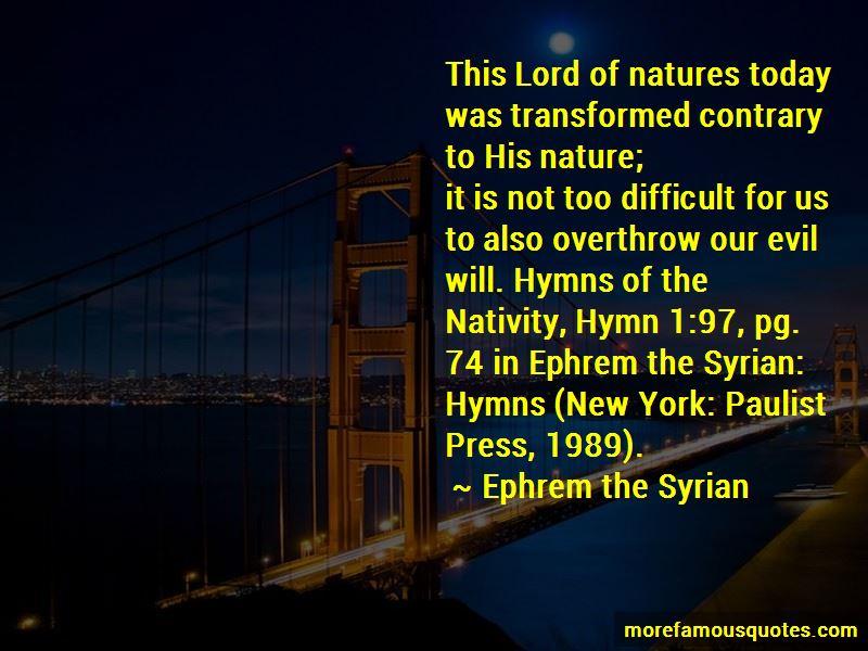 St Ephrem Quotes