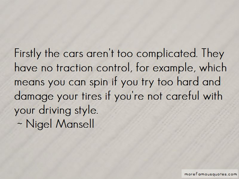 Traction Control Quotes